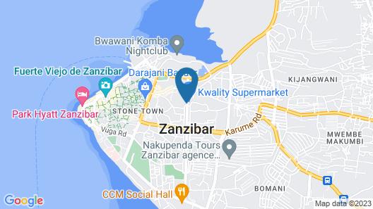 Dreams Hotel Zanzibar Map