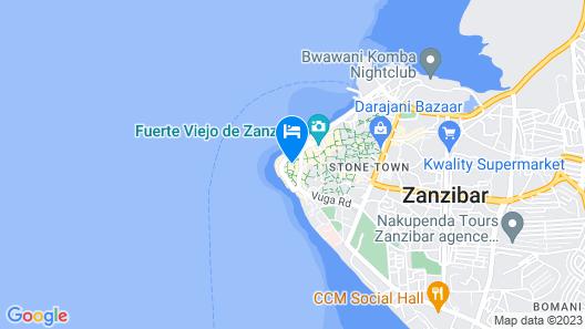 DoubleTree by Hilton Hotel Zanzibar - Stone Town Map