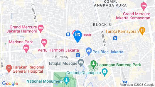 ZEN Rooms Basic Near Pasar Baru Map