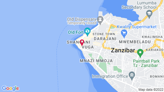 Dhow Palace Hotel Map