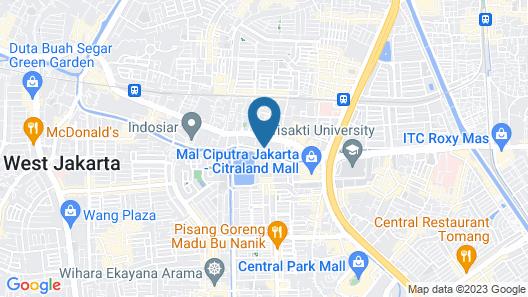 Maple Hotel Jakarta Map