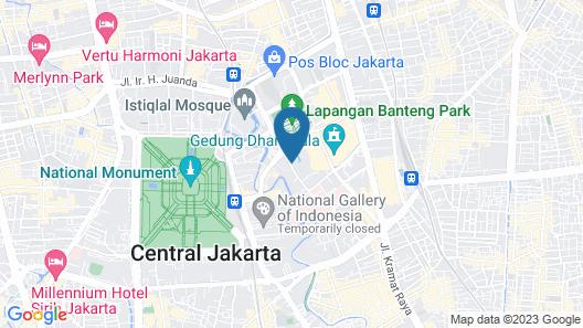 Hotel Borobudur Jakarta Map