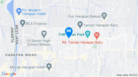 Santika Premiere Kota Harapan Indah Map
