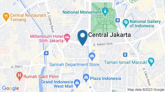 1O1 URBAN Jakarta Thamrin Map