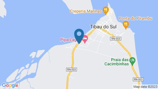 Pipa Lagoa Hotel Map
