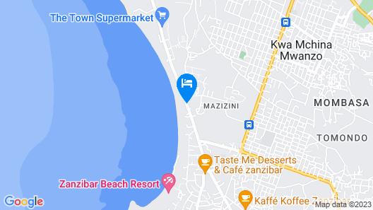 Amira's Roomz Zanzibar Map