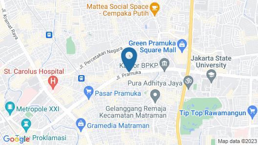 Hotel Sentral Jakarta Map