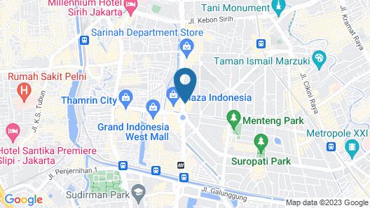 Pullman Jakarta Indonesia Map