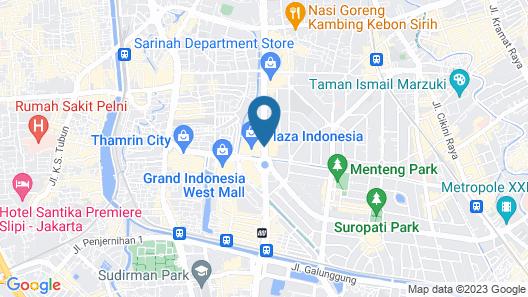 Grand Hyatt Jakarta Map