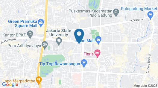 MaxOne Hotels at Pemuda Map