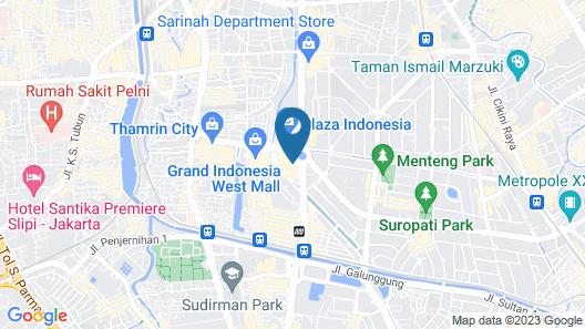 Hotel Indonesia Kempinski Jakarta Map