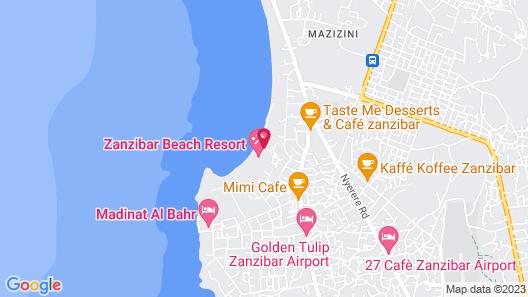 Zanzibar Beach Resort Map