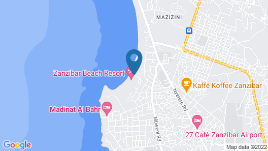 Zanzibar Beach Resort Map
