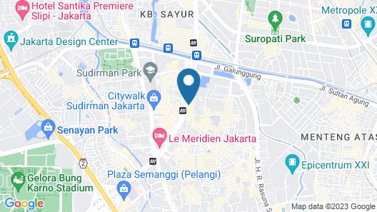 The Mayflower, Jakarta - Marriott Executive Apartments Map