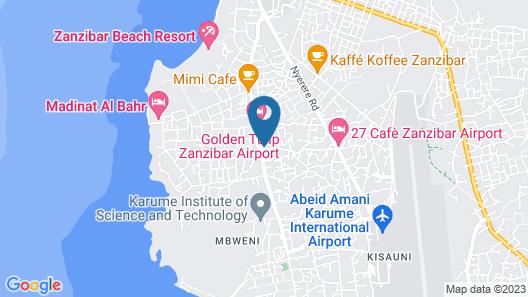 Mbweni Grocery & Lodge Map
