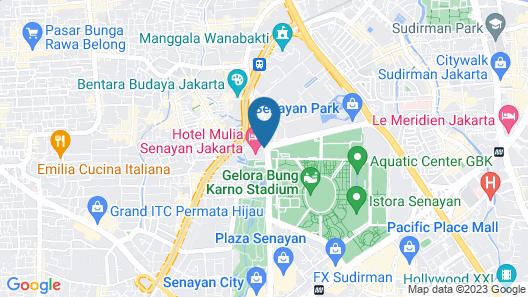 Hotel Mulia Senayan, Jakarta Map