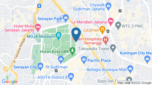 The Sultan Hotel & Residence Jakarta Map