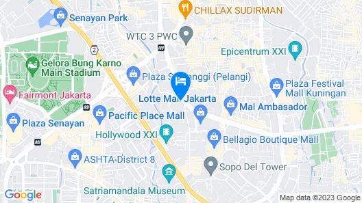 Ascott Sudirman Jakarta Map