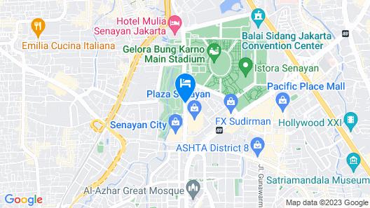 Fairmont Jakarta Map
