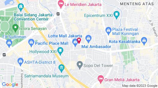 Raffles Jakarta Map