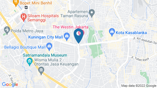 The Westin Jakarta Map