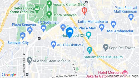 Modern and Spacious 2BR at Kusuma Chandra Apartment Map
