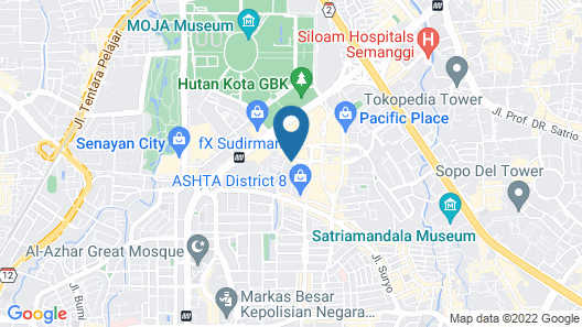 The Langham, Jakarta Map