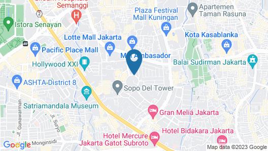 JW Marriott Hotel Jakarta Map