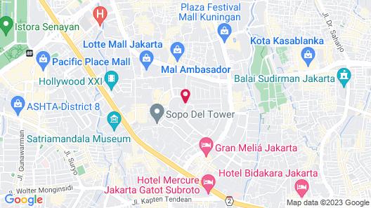 The Ritz-Carlton Jakarta, Mega Kuningan Map