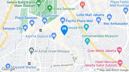 RedDoorz Plus @ SCBD Map