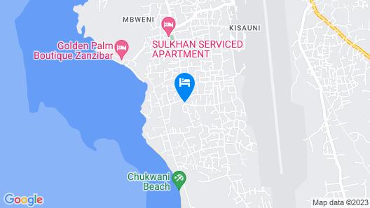 Golden Palm Boutique Zanzibar Map