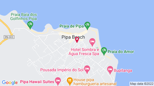 Pousada Pipa Beach House Map