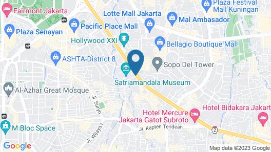 Four Seasons Hotel Jakarta Map