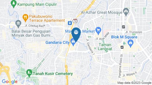 Sheraton Grand Jakarta Gandaria City Hotel Map