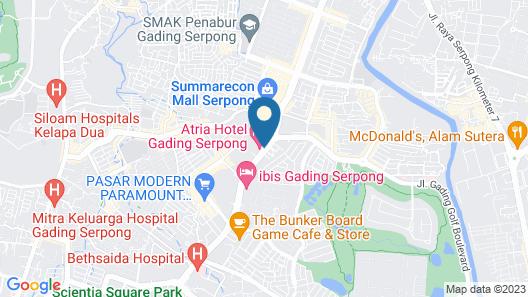 Atria Hotel Gading Serpong Map