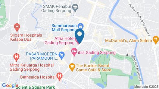 Ara Hotel Gading Serpong Map