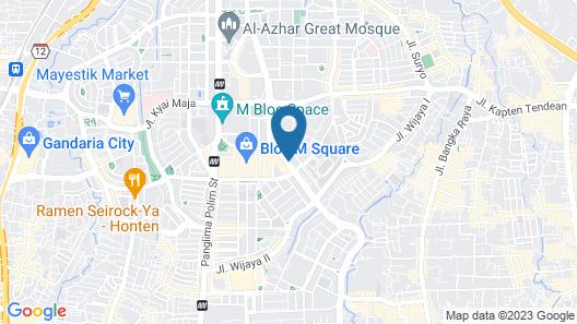 Hotel GranDhika Iskandarsyah Map