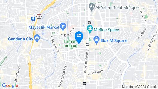 Hotel Gran Mahakam Map