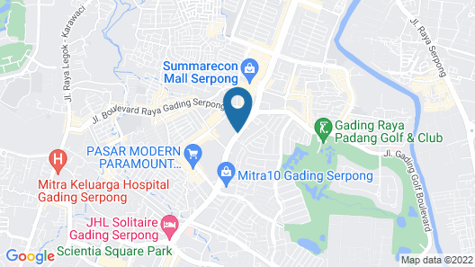 JHL Solitaire Gading Serpong Map