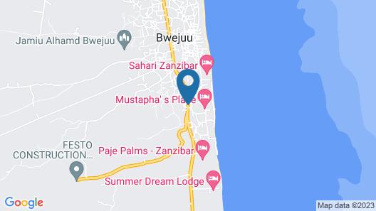 Oceanfront Villa Zanzibar Map