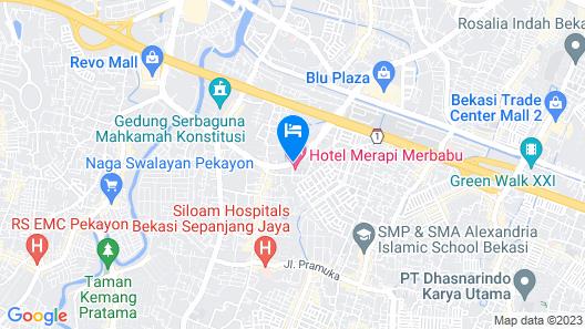 Merapi Merbabu Hotels & Resort Bekasi Map