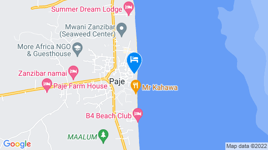 Paje Beach Apartments & Hotel Map