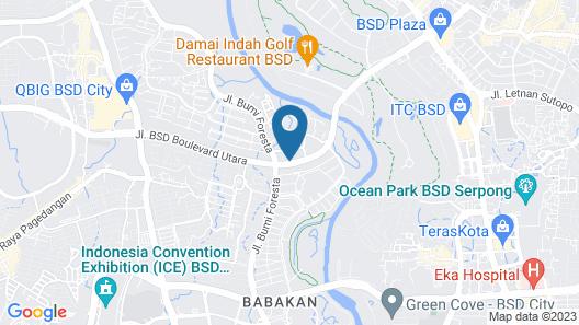 Starlet Hotel BSD City Map