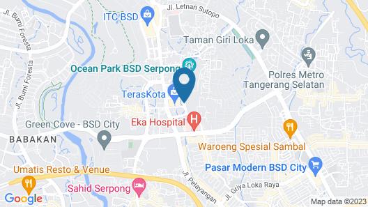 Hotel Santika BSD City Serpong Map