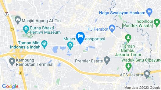 Hotel Santika Taman Mini Indonesia Indah Map