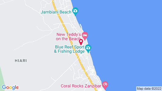 Casa del Mar Hotel Zanzibar Map