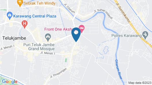 Akshaya Hotel Karawang Map