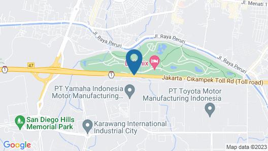 Delonix Hotel Karawang Map