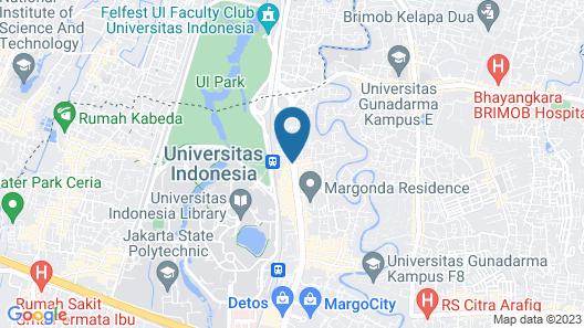 Hotel Santika Depok Map