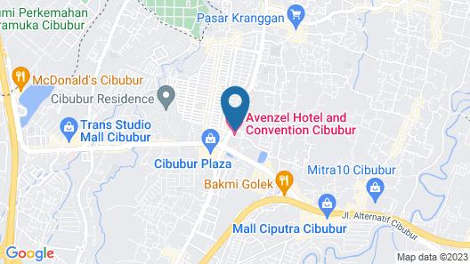 Avenzel Hotel & Convention Cibubur Map